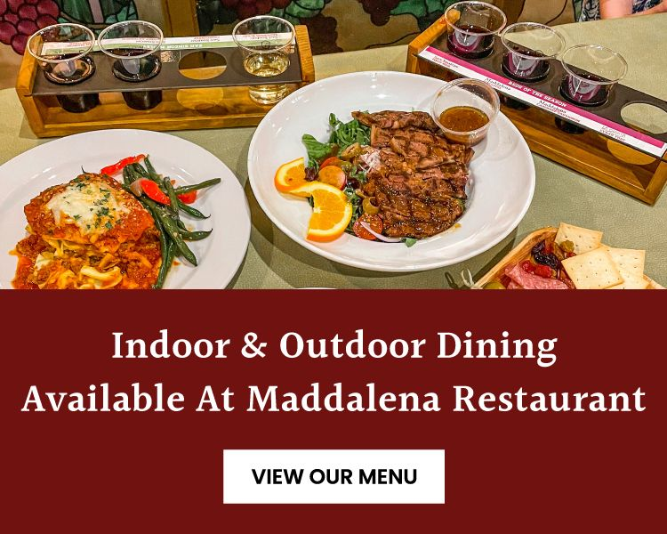 Indoor & Outdoor Dining Available at Maddalena Restaurant