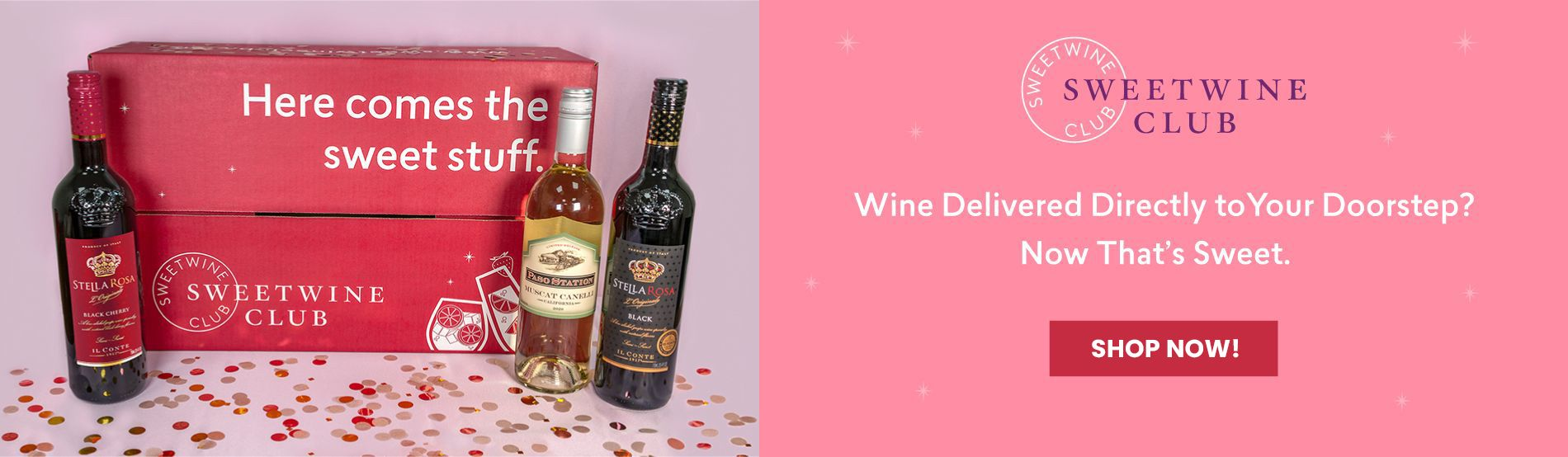 Wine Delivered Directly to Your Doorstep? Now That's Sweet. Learn more.